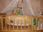 детский манеж-кровать ,  коляску зима-лето